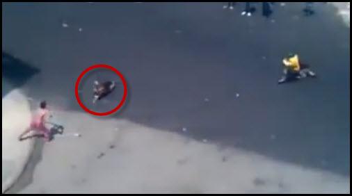 Man Throws Dogs Off Parking Garage