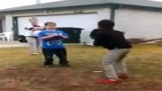 mother forces white son to fight black kid