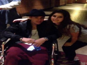 Justin Bieber wheelchair disneyland