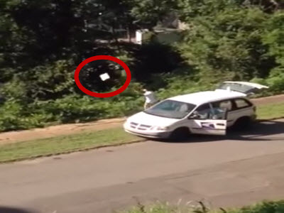WATCH: USPS Worker Caught Throwing Packages Into Ravine ...