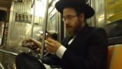 Jewish Guy Picking Beard and Eating It
