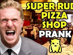 Super Rude Pizza Shop Prank - Ownage Pranks