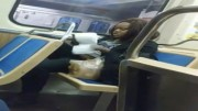 Nasty Black Woman on Red Line Train