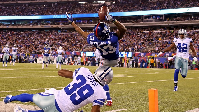 NYG WR Odell Beckham Jr. Makes Greatest Catch in NFL ...