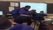 STUDENT SLAMS TEACHER FOR TAKING HIS PHONE AWAY
