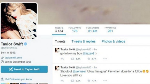 taylor swift hacked