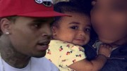 Chris Brown is a Father