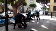 lapd officer shoots and kills homeless man